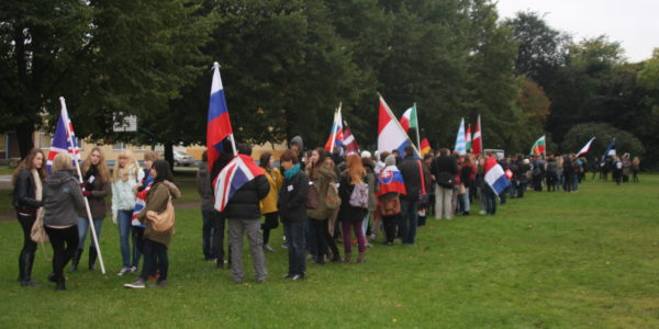 Estonia Flag parade